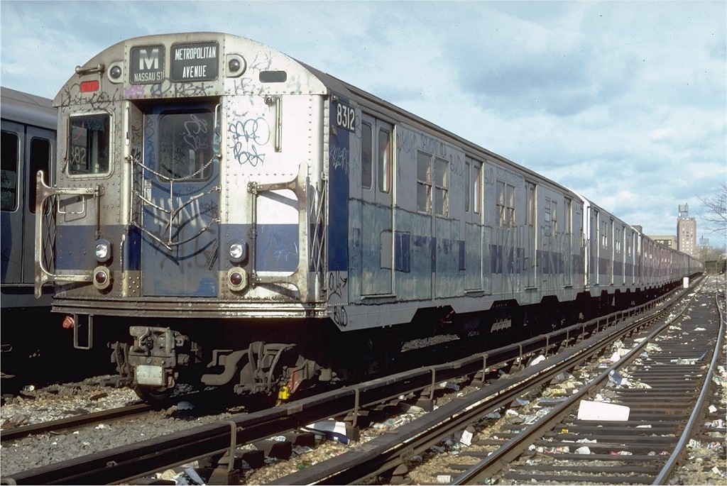 (223k, 1024x685)<br><b>Country:</b> United States<br><b>City:</b> New York<br><b>System:</b> New York City Transit<br><b>Location:</b> Coney Island Yard<br><b>Car:</b> R-30 (St. Louis, 1961) 8312 <br><b>Photo by:</b> Steve Zabel<br><b>Collection of:</b> Joe Testagrose<br><b>Date:</b> 11/21/1981<br><b>Viewed (this week/total):</b> 1 / 2300