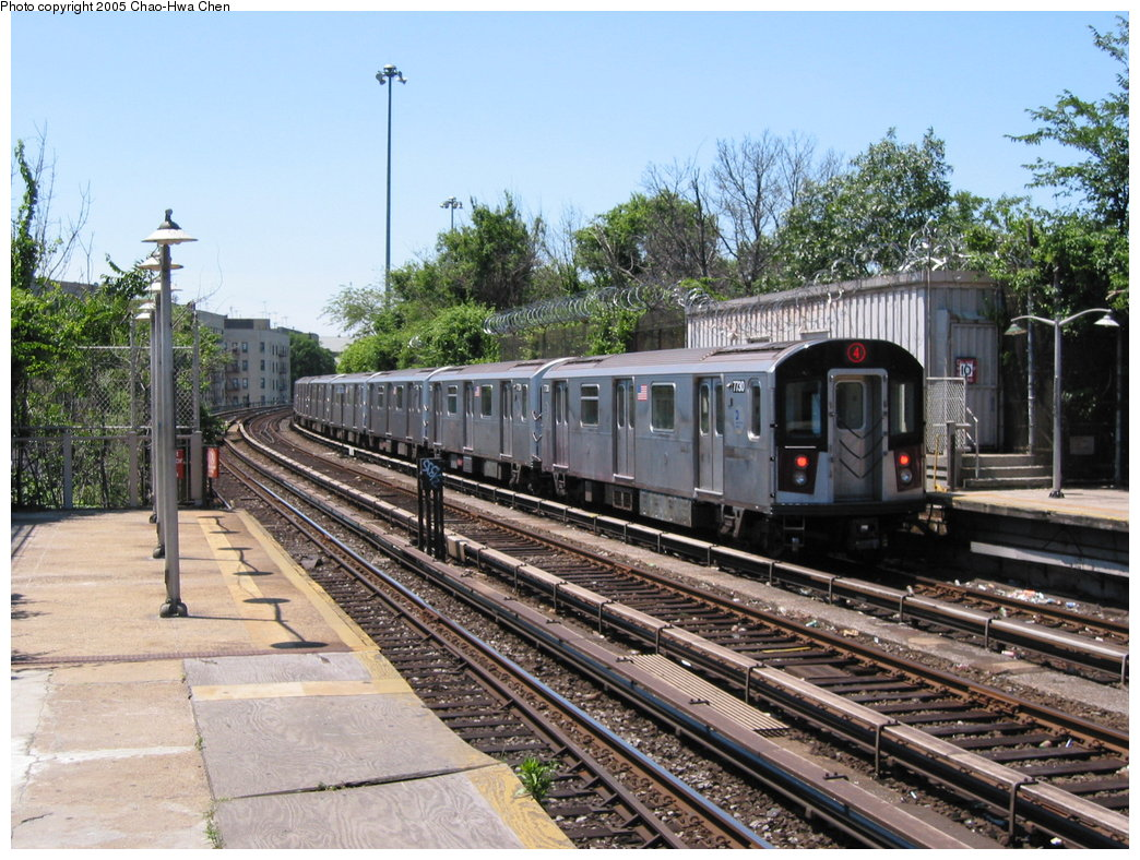 (231k, 1044x788)<br><b>Country:</b> United States<br><b>City:</b> New York<br><b>System:</b> New York City Transit<br><b>Line:</b> IRT Woodlawn Line<br><b>Location:</b> Bedford Park Boulevard <br><b>Route:</b> 4<br><b>Car:</b> R-142A (Option Order, Kawasaki, 2002-2003)  7730 <br><b>Photo by:</b> Chao-Hwa Chen<br><b>Date:</b> 7/1/2003<br><b>Viewed (this week/total):</b> 1 / 2335