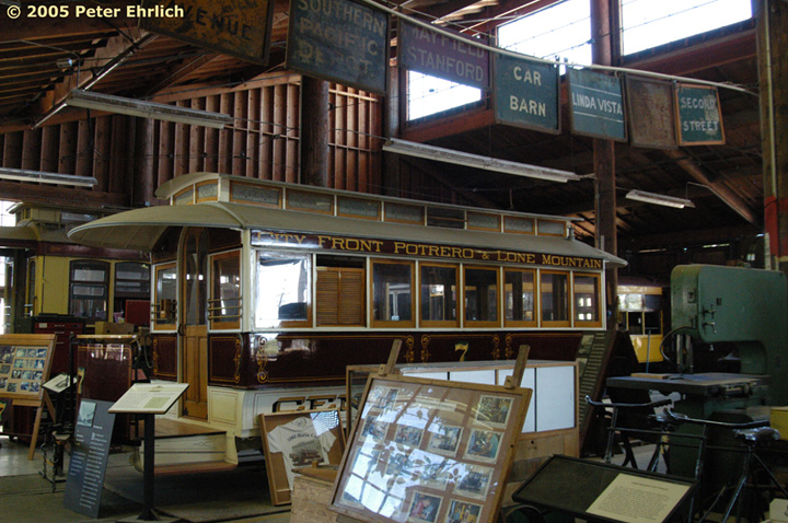 (180k, 720x478)<br><b>Country:</b> United States<br><b>City:</b> San Jose, CA<br><b>System:</b> Kelley Park Vintage Trolley <br><b>Car:</b>  7 <br><b>Photo by:</b> Peter Ehrlich<br><b>Date:</b> 7/30/2005<br><b>Notes:</b> San Francisco horse car (Central Street Railway) No.7 - built in San Francisco, 1863<br><b>Viewed (this week/total):</b> 2 / 1104