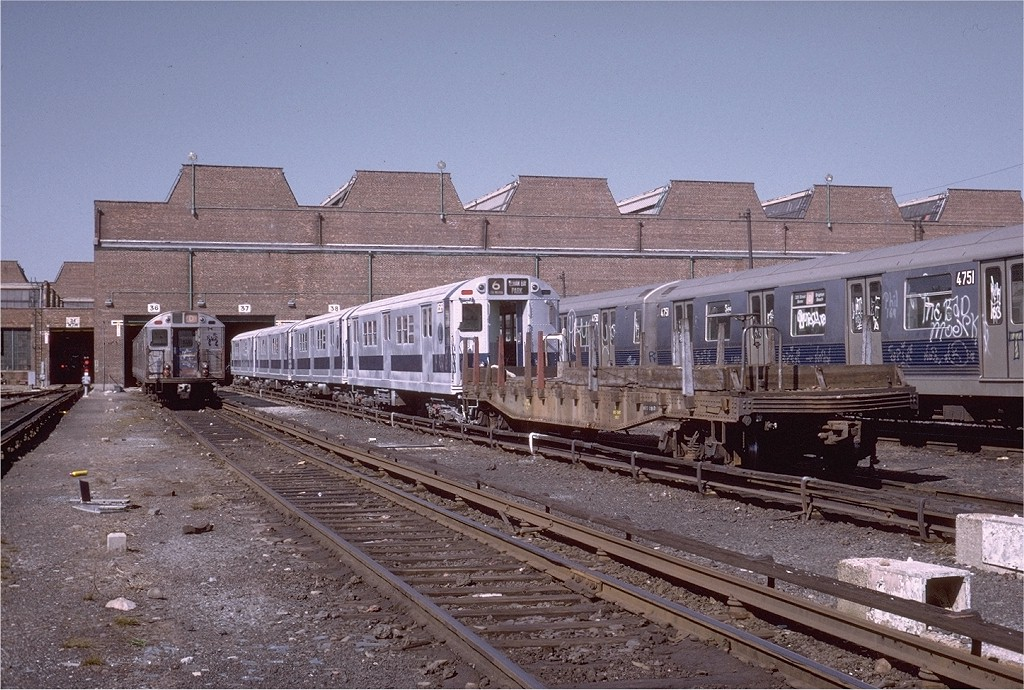 (246k, 1024x690)<br><b>Country:</b> United States<br><b>City:</b> New York<br><b>System:</b> New York City Transit<br><b>Location:</b> Coney Island Yard<br><b>Car:</b> Flat Car  <br><b>Photo by:</b> Steve Zabel<br><b>Collection of:</b> Joe Testagrose<br><b>Date:</b> 3/26/1973<br><b>Viewed (this week/total):</b> 0 / 2277
