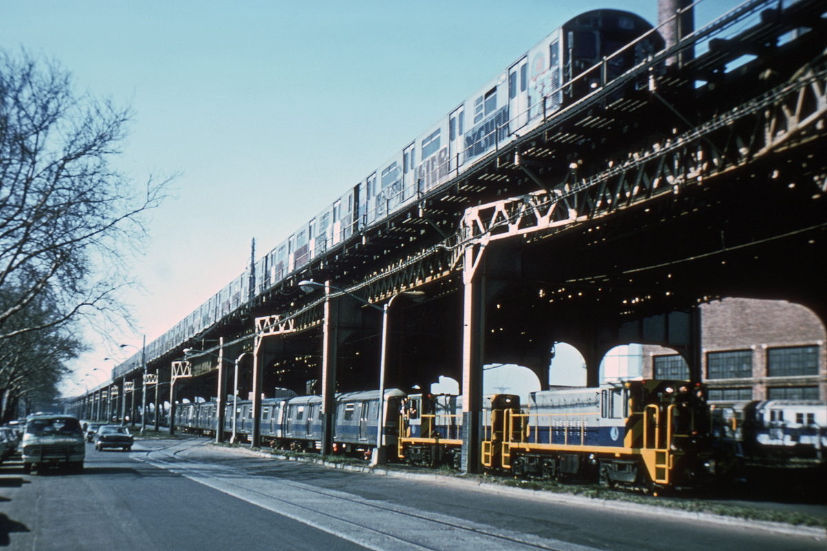 (223k, 1024x654)<br><b>Country:</b> United States<br><b>City:</b> New York<br><b>System:</b> New York City Transit<br><b>Line:</b> South Brooklyn Railway<br><b>Location:</b> McDonald/Ave X (SBK)<br><b>Route:</b> Work Service<br><b>Car:</b> R-47 (SBK) Locomotive  N2 <br><b>Photo by:</b> Steve Zabel<br><b>Collection of:</b> Joe Testagrose<br><b>Date:</b> 4/23/1975<br><b>Viewed (this week/total):</b> 1 / 2968