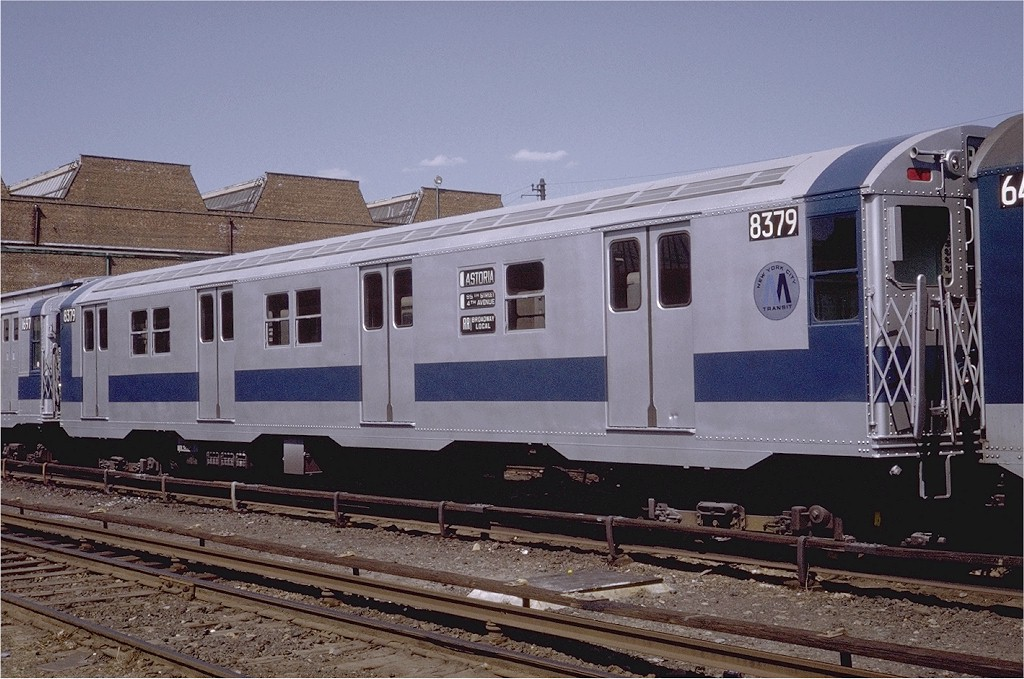 (209k, 1024x679)<br><b>Country:</b> United States<br><b>City:</b> New York<br><b>System:</b> New York City Transit<br><b>Location:</b> Coney Island Yard<br><b>Car:</b> R-30 (St. Louis, 1961) 8379 <br><b>Photo by:</b> Steve Zabel<br><b>Collection of:</b> Joe Testagrose<br><b>Date:</b> 4/23/1971<br><b>Viewed (this week/total):</b> 0 / 1691