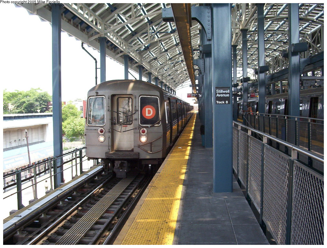 (250k, 1044x793)<br><b>Country:</b> United States<br><b>City:</b> New York<br><b>System:</b> New York City Transit<br><b>Location:</b> Coney Island/Stillwell Avenue<br><b>Route:</b> D<br><b>Car:</b> R-68/R-68A Series (Number Unknown)  <br><b>Photo by:</b> Mike Fioriello<br><b>Date:</b> 6/25/2005<br><b>Viewed (this week/total):</b> 0 / 3728