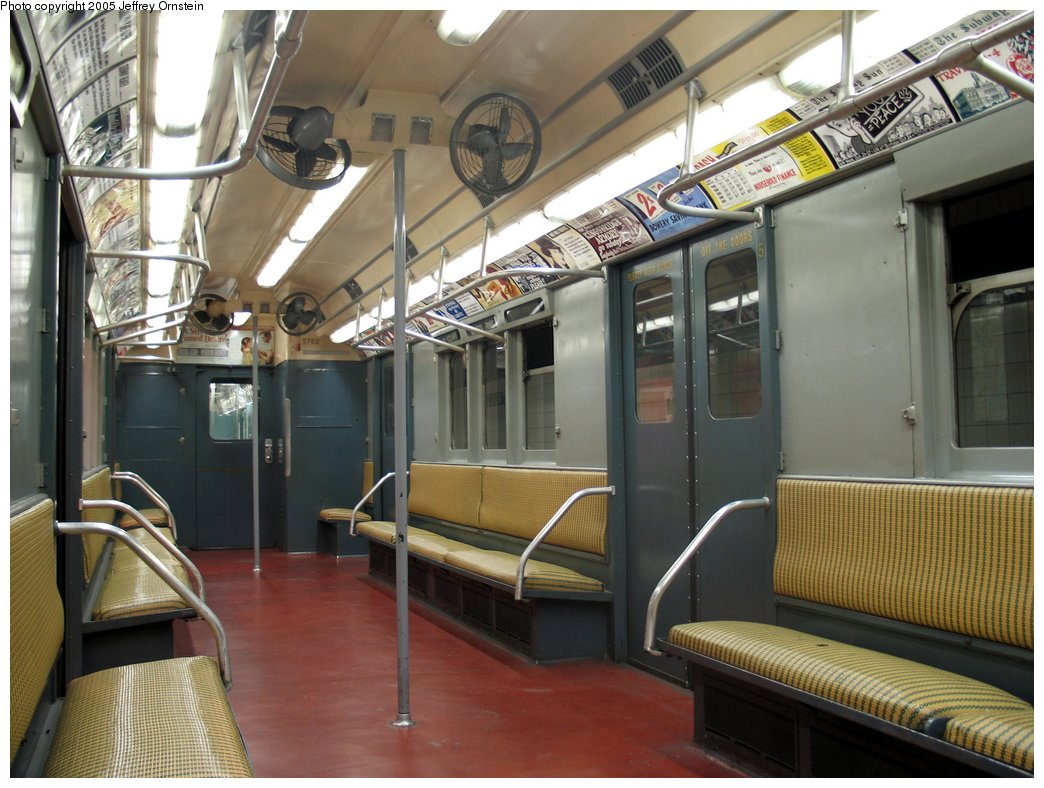 (165k, 1044x788)<br><b>Country:</b> United States<br><b>City:</b> New York<br><b>System:</b> New York City Transit<br><b>Location:</b> New York Transit Museum<br><b>Car:</b> R-12 (American Car & Foundry, 1948) 5760 <br><b>Photo by:</b> Jeffrey Ornstein<br><b>Date:</b> 8/19/2005<br><b>Viewed (this week/total):</b> 2 / 2936