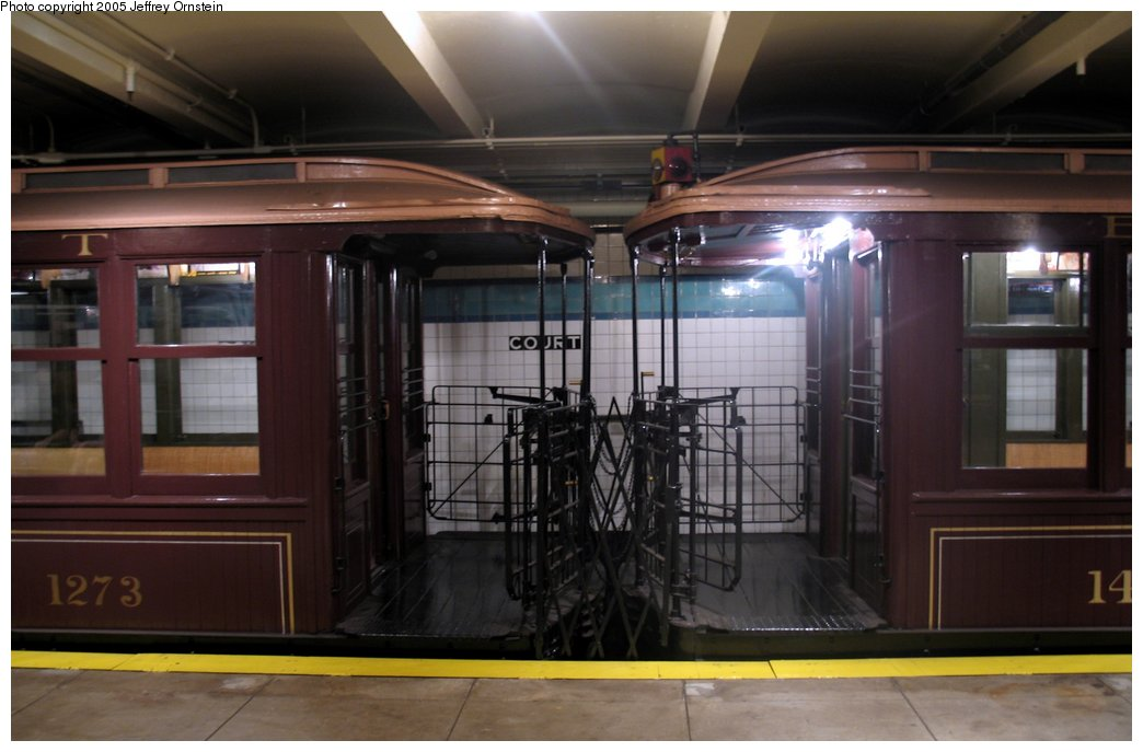 (118k, 1044x687)<br><b>Country:</b> United States<br><b>City:</b> New York<br><b>System:</b> New York City Transit<br><b>Location:</b> New York Transit Museum<br><b>Car:</b> BMT Elevated Gate Car 1273/1404 <br><b>Photo by:</b> Jeffrey Ornstein<br><b>Date:</b> 8/19/2005<br><b>Viewed (this week/total):</b> 1 / 4222