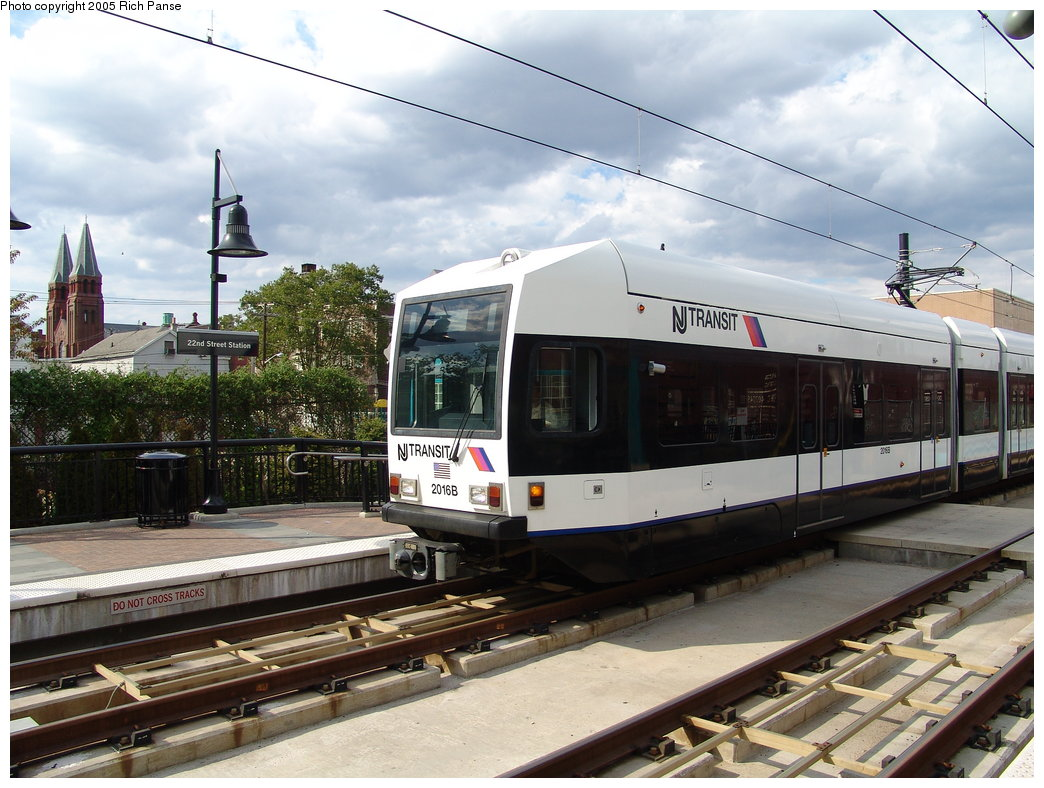 (198k, 1044x788)<br><b>Country:</b> United States<br><b>City:</b> Bayonne, NJ<br><b>System:</b> Hudson Bergen Light Rail<br><b>Location:</b> East 22nd Street <br><b>Car:</b> NJT-HBLR LRV (Kinki-Sharyo, 1998-99)  2016 <br><b>Photo by:</b> Richard Panse<br><b>Date:</b> 8/26/2005<br><b>Viewed (this week/total):</b> 0 / 1969