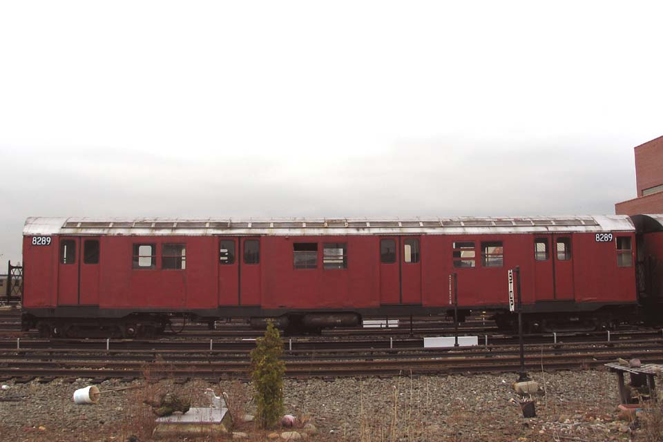 (69k, 960x640)<br><b>Country:</b> United States<br><b>City:</b> New York<br><b>System:</b> New York City Transit<br><b>Location:</b> Coney Island Yard-Training Facilities<br><b>Car:</b> R-30 (St. Louis, 1961) 8289 <br><b>Photo by:</b> Michael Pompili<br><b>Date:</b> 4/3/2004<br><b>Viewed (this week/total):</b> 15 / 4751