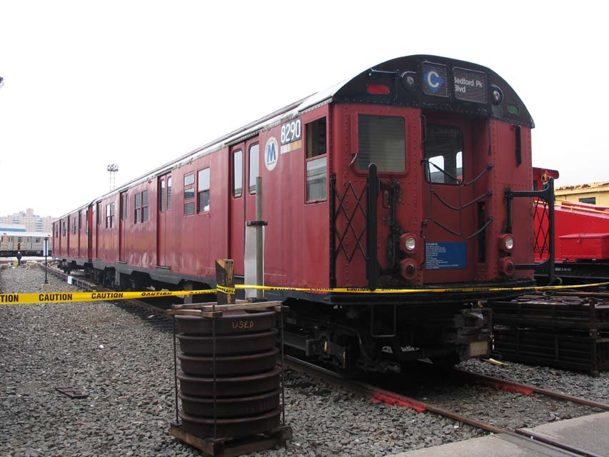 (90k, 853x640)<br><b>Country:</b> United States<br><b>City:</b> New York<br><b>System:</b> New York City Transit<br><b>Location:</b> Coney Island Yard-Training Facilities<br><b>Car:</b> R-30 (St. Louis, 1961) 8290 <br><b>Photo by:</b> Michael Pompili<br><b>Date:</b> 4/3/2004<br><b>Viewed (this week/total):</b> 0 / 6095
