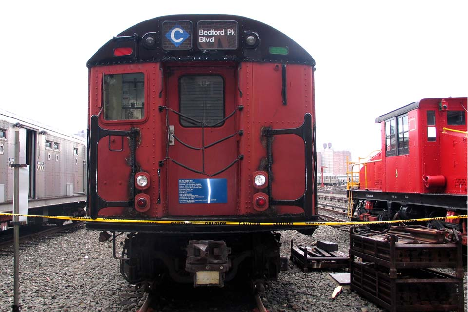 (106k, 960x640)<br><b>Country:</b> United States<br><b>City:</b> New York<br><b>System:</b> New York City Transit<br><b>Location:</b> Coney Island Yard-Training Facilities<br><b>Car:</b> R-30 (St. Louis, 1961) 8290 <br><b>Photo by:</b> Michael Pompili<br><b>Date:</b> 4/3/2004<br><b>Viewed (this week/total):</b> 0 / 4959