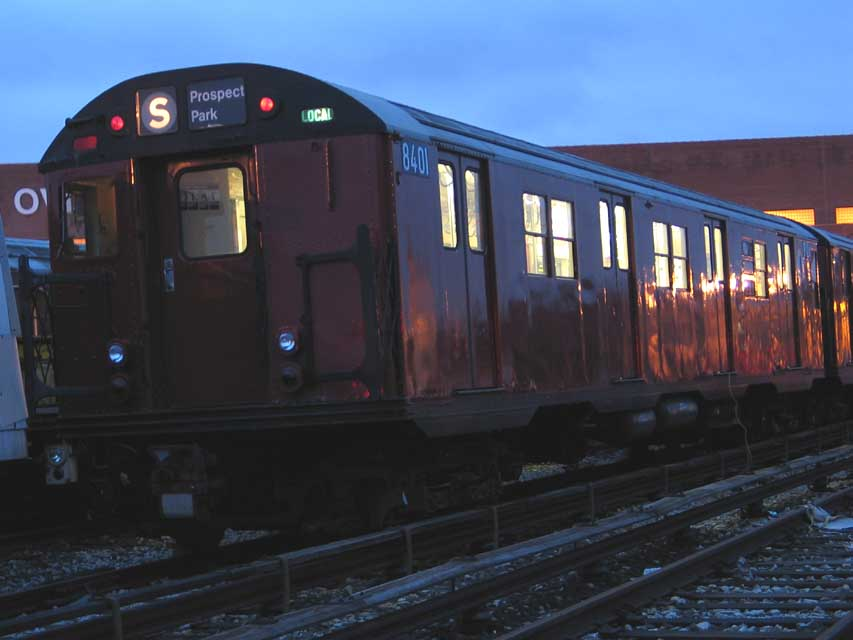 (58k, 853x640)<br><b>Country:</b> United States<br><b>City:</b> New York<br><b>System:</b> New York City Transit<br><b>Location:</b> Coney Island Yard-Training Facilities<br><b>Car:</b> R-30 (St. Louis, 1961) 8401 <br><b>Photo by:</b> Michael Pompili<br><b>Date:</b> 7/13/2004<br><b>Viewed (this week/total):</b> 7 / 4354