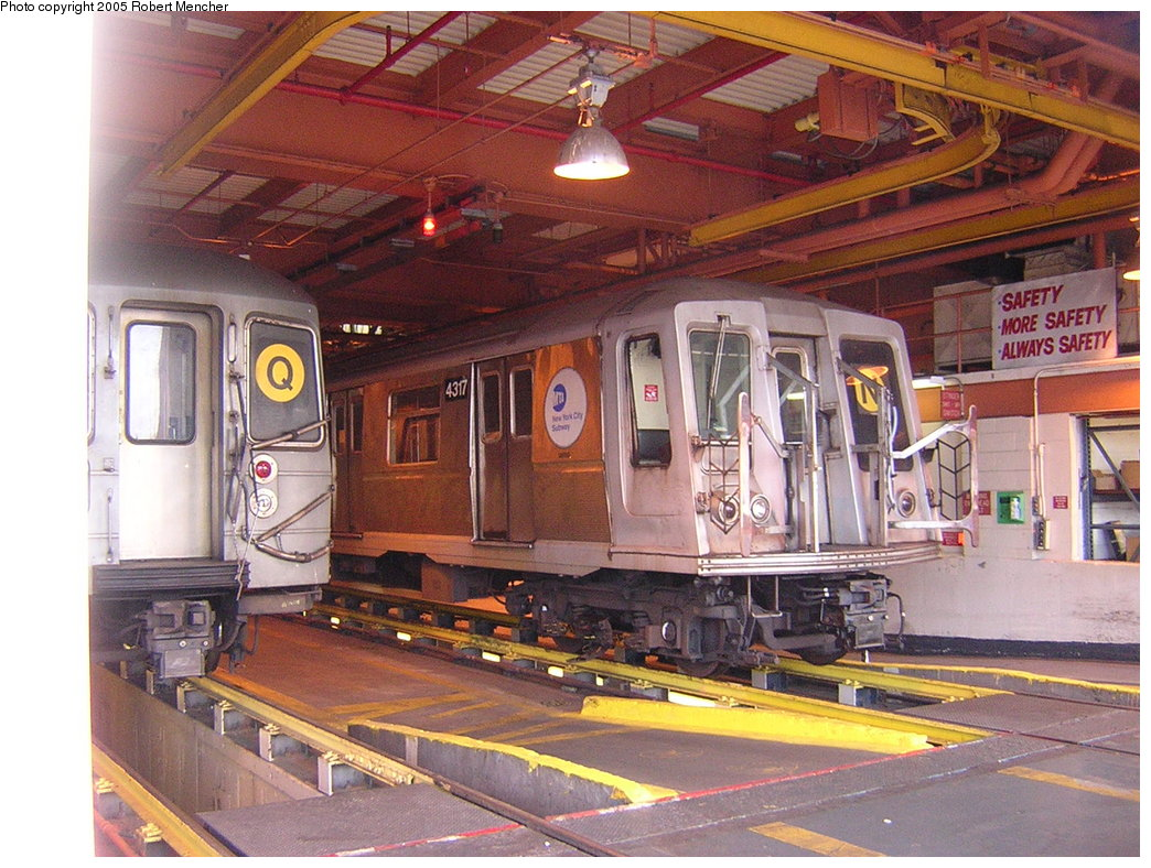 (245k, 1044x788)<br><b>Country:</b> United States<br><b>City:</b> New York<br><b>System:</b> New York City Transit<br><b>Location:</b> Coney Island Shop/Maint. & Inspection Shop<br><b>Car:</b> R-40 (St. Louis, 1968)  4317 <br><b>Photo by:</b> Robert Mencher<br><b>Date:</b> 8/29/2005<br><b>Viewed (this week/total):</b> 0 / 3717