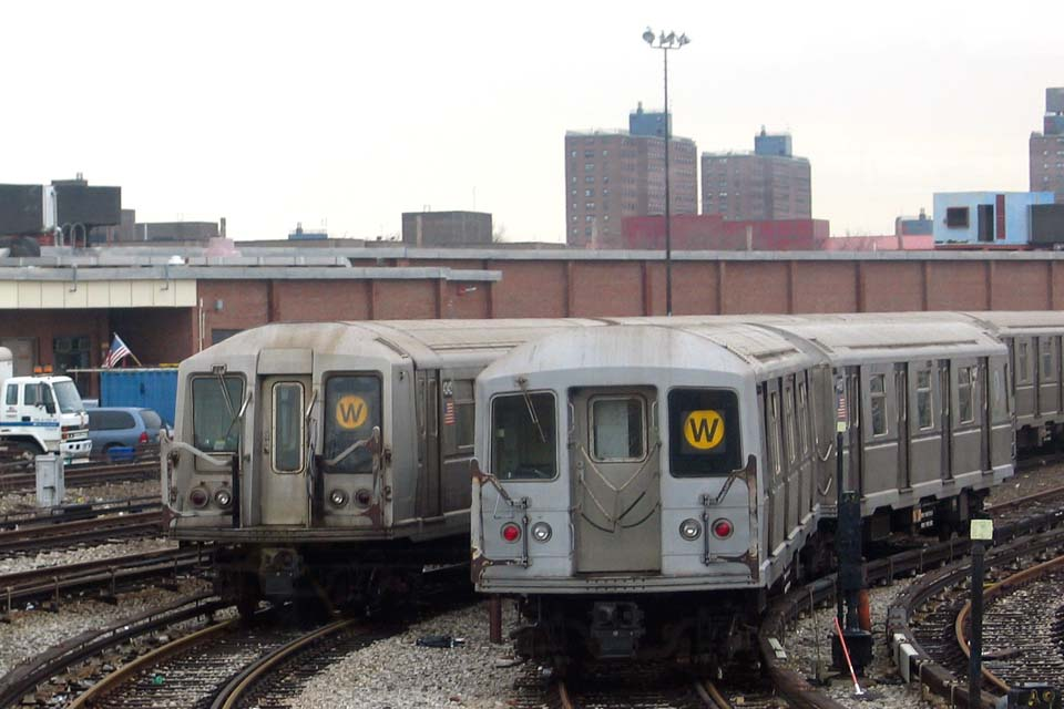 (91k, 960x640)<br><b>Country:</b> United States<br><b>City:</b> New York<br><b>System:</b> New York City Transit<br><b>Location:</b> Coney Island Yard<br><b>Car:</b> R-40 (St. Louis, 1968)  4242 <br><b>Photo by:</b> Michael Pompili<br><b>Date:</b> 4/3/2004<br><b>Viewed (this week/total):</b> 1 / 3643