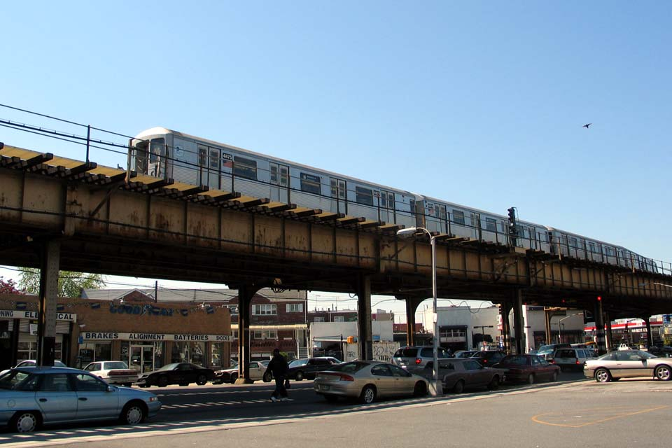 (93k, 960x640)<br><b>Country:</b> United States<br><b>City:</b> New York<br><b>System:</b> New York City Transit<br><b>Location:</b> Coney Island/Stillwell Avenue<br><b>Route:</b> M<br><b>Car:</b> R-42 (St. Louis, 1969-1970)  4875 <br><b>Photo by:</b> Michael Pompili<br><b>Date:</b> 5/6/2004<br><b>Viewed (this week/total):</b> 0 / 3487