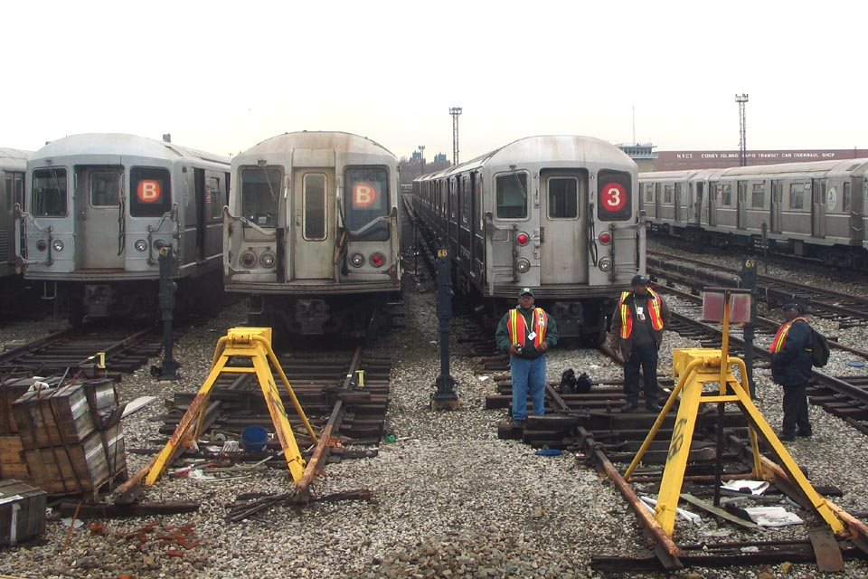 (150k, 960x640)<br><b>Country:</b> United States<br><b>City:</b> New York<br><b>System:</b> New York City Transit<br><b>Location:</b> Coney Island Yard<br><b>Car:</b> R-62 (Kawasaki, 1983-1985)  1405 <br><b>Photo by:</b> Michael Pompili<br><b>Date:</b> 4/3/2004<br><b>Viewed (this week/total):</b> 0 / 4334