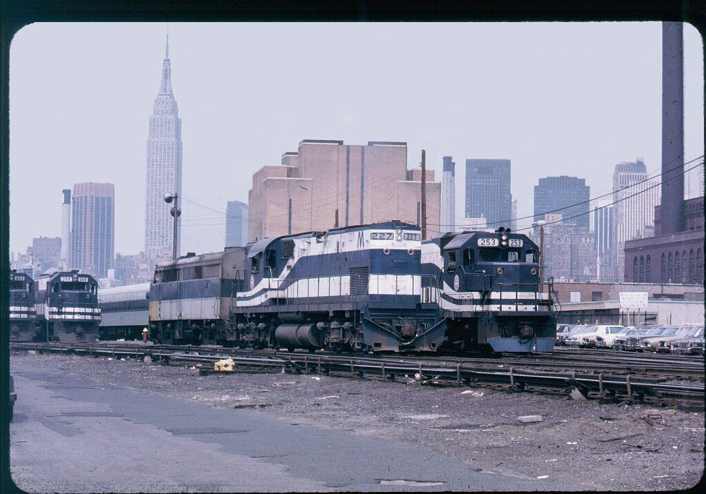 (134k, 1024x716)<br><b>Country:</b> United States<br><b>City:</b> New York<br><b>System:</b> Long Island Rail Road<br><b>Line:</b> LIRR Long Island City<br><b>Location:</b> Long Island City <br><b>Car:</b> LIRR Alco C-420 (Diesel) 227 <br><b>Photo by:</b> Steve Hoskins<br><b>Notes:</b> 1970s<br><b>Viewed (this week/total):</b> 2 / 1516