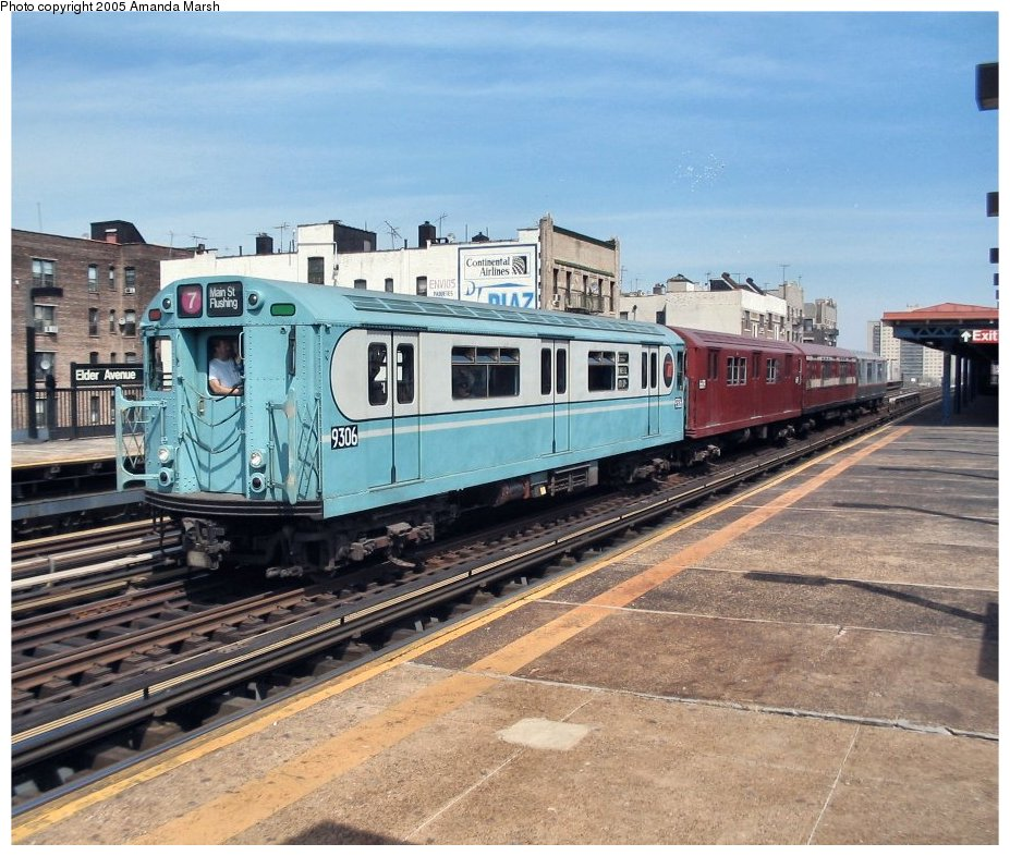 (166k, 927x786)<br><b>Country:</b> United States<br><b>City:</b> New York<br><b>System:</b> New York City Transit<br><b>Line:</b> IRT Pelham Line<br><b>Location:</b> Elder Avenue <br><b>Route:</b> Fan Trip<br><b>Car:</b> R-33 World's Fair (St. Louis, 1963-64) 9306 <br><b>Photo by:</b> Amanda Marsh<br><b>Date:</b> 4/17/2004<br><b>Viewed (this week/total):</b> 2 / 2836