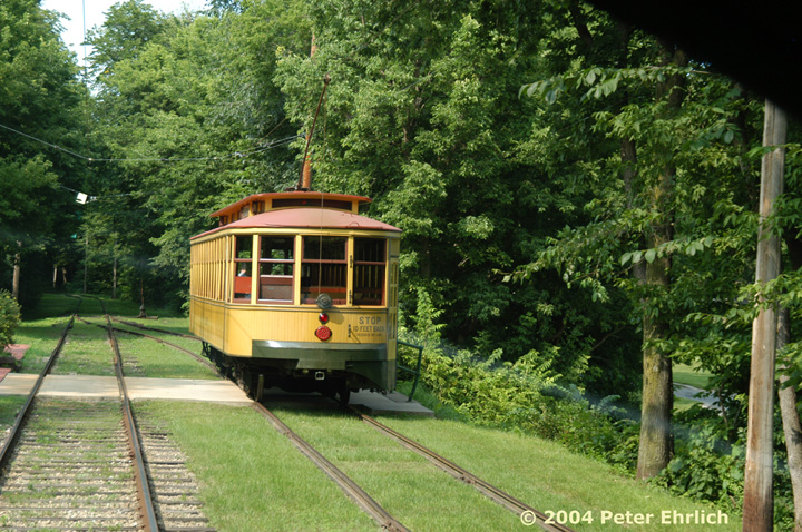 (225k, 720x478)<br><b>Country:</b> United States<br><b>City:</b> Minneapolis, MN<br><b>System:</b> Minnesota Streetcar Museum <br><b>Line:</b> Como-Harriet Line<br><b>Car:</b>  1300 <br><b>Photo by:</b> Peter Ehrlich<br><b>Date:</b> 8/1/2004<br><b>Notes:</b> Approaching Linden Hills outbound.<br><b>Viewed (this week/total):</b> 0 / 962