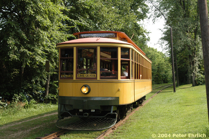 (230k, 720x478)<br><b>Country:</b> United States<br><b>City:</b> Minneapolis, MN<br><b>System:</b> Minnesota Streetcar Museum <br><b>Line:</b> Como-Harriet Line<br><b>Car:</b>  1300 <br><b>Photo by:</b> Peter Ehrlich<br><b>Date:</b> 8/1/2004<br><b>Notes:</b> Twin Cities Standard car 1300 at the Carbarn.<br><b>Viewed (this week/total):</b> 0 / 844