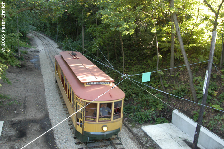 (214k, 720x478)<br><b>Country:</b> United States<br><b>City:</b> Minneapolis, MN<br><b>System:</b> Minnesota Streetcar Museum <br><b>Line:</b> Como-Harriet Line<br><b>Car:</b>  1300 <br><b>Photo by:</b> Peter Ehrlich<br><b>Date:</b> 8/27/2005<br><b>Notes:</b> Cottage City was a stop on the original Como-Harriet streetcar line.<br><b>Viewed (this week/total):</b> 0 / 935