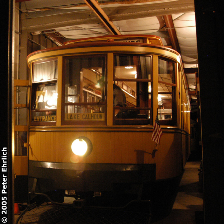 (209k, 720x720)<br><b>Country:</b> United States<br><b>City:</b> Minneapolis, MN<br><b>System:</b> Minnesota Streetcar Museum <br><b>Line:</b> Como-Harriet Line<br><b>Car:</b>  1300 <br><b>Photo by:</b> Peter Ehrlich<br><b>Date:</b> 8/27/2005<br><b>Notes:</b> Twin Cities Standard car 1300 at the Carbarn.<br><b>Viewed (this week/total):</b> 3 / 1052