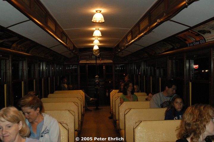 (138k, 720x478)<br><b>Country:</b> United States<br><b>City:</b> Minneapolis, MN<br><b>System:</b> Minnesota Streetcar Museum <br><b>Line:</b> Como-Harriet Line<br><b>Car:</b>  1300 <br><b>Photo by:</b> Peter Ehrlich<br><b>Date:</b> 8/27/2005<br><b>Notes:</b> 1300 interior.<br><b>Viewed (this week/total):</b> 2 / 872