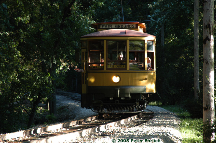 (192k, 720x478)<br><b>Country:</b> United States<br><b>City:</b> Minneapolis, MN<br><b>System:</b> Minnesota Streetcar Museum <br><b>Line:</b> Como-Harriet Line<br><b>Car:</b>  1300 <br><b>Photo by:</b> Peter Ehrlich<br><b>Date:</b> 8/27/2005<br><b>Notes:</b> North of Cottage City.<br><b>Viewed (this week/total):</b> 2 / 1018