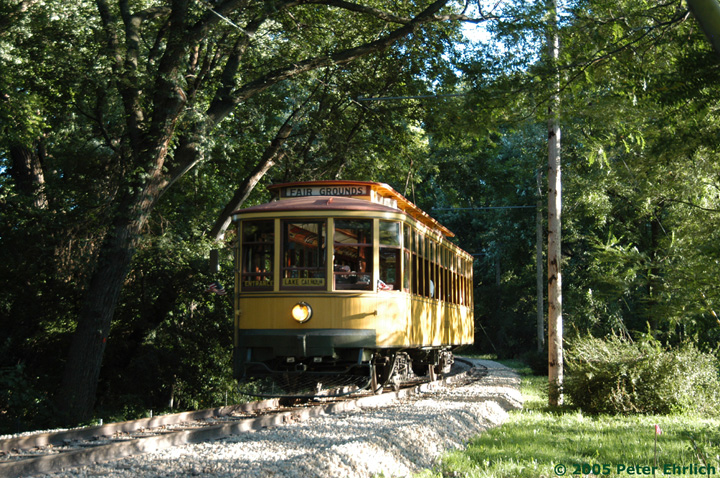 (255k, 720x478)<br><b>Country:</b> United States<br><b>City:</b> Minneapolis, MN<br><b>System:</b> Minnesota Streetcar Museum <br><b>Line:</b> Como-Harriet Line<br><b>Car:</b>  1300 <br><b>Photo by:</b> Peter Ehrlich<br><b>Date:</b> 8/27/2005<br><b>Notes:</b> North of Cottage City.<br><b>Viewed (this week/total):</b> 1 / 1278