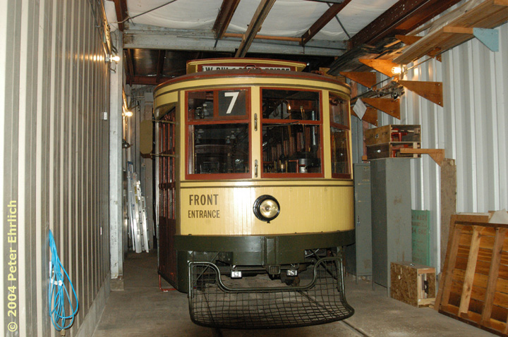 (165k, 720x478)<br><b>Country:</b> United States<br><b>City:</b> Minneapolis, MN<br><b>System:</b> Minnesota Streetcar Museum <br><b>Line:</b> Como-Harriet Line<br><b>Car:</b>  265 <br><b>Photo by:</b> Peter Ehrlich<br><b>Date:</b> 8/1/2004<br><b>Notes:</b> Duluth 265 in the Carbarn.<br><b>Viewed (this week/total):</b> 0 / 1101
