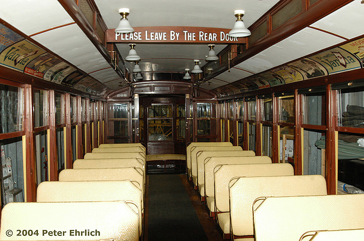 (188k, 720x478)<br><b>Country:</b> United States<br><b>City:</b> Minneapolis, MN<br><b>System:</b> Minnesota Streetcar Museum <br><b>Line:</b> Como-Harriet Line<br><b>Car:</b>  265 <br><b>Photo by:</b> Peter Ehrlich<br><b>Date:</b> 8/1/2004<br><b>Notes:</b> Duluth 265 in the Carbarn.<br><b>Viewed (this week/total):</b> 0 / 943