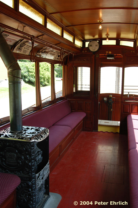 (150k, 478x720)<br><b>Country:</b> United States<br><b>City:</b> Minneapolis, MN<br><b>System:</b> Minnesota Streetcar Museum <br><b>Line:</b> Excelsior Line<br><b>Car:</b>  78 <br><b>Photo by:</b> Peter Ehrlich<br><b>Date:</b> 8/1/2004<br><b>Notes:</b> Duluth 78 interior.<br><b>Viewed (this week/total):</b> 1 / 826