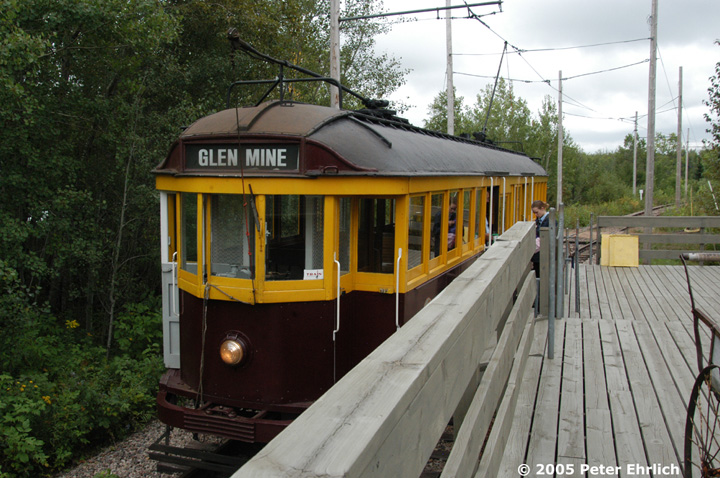 (173k, 720x478)<br><b>Country:</b> United States<br><b>City:</b> Chisholm, MN<br><b>System:</b> Ironworld<br><b>Car:</b> Melbourne W2 Class (1923-1931)  601 <br><b>Photo by:</b> Peter Ehrlich<br><b>Date:</b> 8/29/2005<br><b>Notes:</b> Glen Station, main exhibit area.<br><b>Viewed (this week/total):</b> 2 / 952