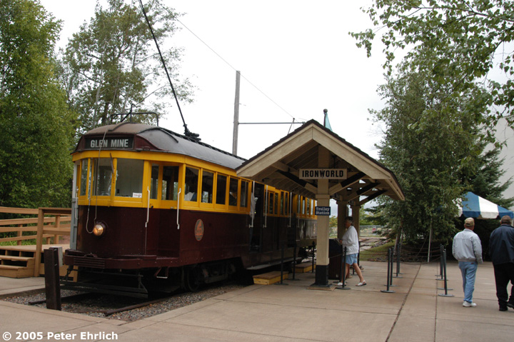 (177k, 720x479)<br><b>Country:</b> United States<br><b>City:</b> Chisholm, MN<br><b>System:</b> Ironworld<br><b>Car:</b> Melbourne W2 Class (1923-1931)  601 <br><b>Photo by:</b> Peter Ehrlich<br><b>Date:</b> 8/29/2005<br><b>Viewed (this week/total):</b> 0 / 909
