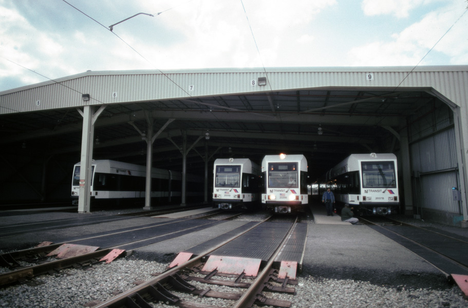 (159k, 911x600)<br><b>Country:</b> United States<br><b>City:</b> Jersey City, NJ<br><b>System:</b> Hudson Bergen Light Rail<br><b>Location:</b> HBLR Shops/Yard <br><b>Photo by:</b> Chris Leverett<br><b>Date:</b> 10/16/2004<br><b>Viewed (this week/total):</b> 1 / 1325
