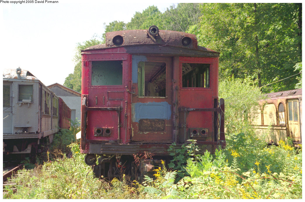 (266k, 1044x693)<br><b>Country:</b> United States<br><b>City:</b> Kingston, NY<br><b>System:</b> Trolley Museum of New York <br><b>Photo by:</b> David Pirmann<br><b>Date:</b> 8/1996<br><b>Notes:</b> Philadelphia Broad St. subway or Bridge Line car.<br><b>Viewed (this week/total):</b> 2 / 4479