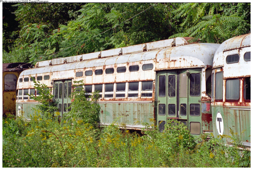 (353k, 1044x699)<br><b>Country:</b> United States<br><b>City:</b> Kingston, NY<br><b>System:</b> Trolley Museum of New York <br><b>Car:</b> MBTA/BSRy PCC Post-War All Electric (Pullman-Standard, 1946)  3214 <br><b>Photo by:</b> David Pirmann<br><b>Date:</b> 8/1996<br><b>Viewed (this week/total):</b> 0 / 2611