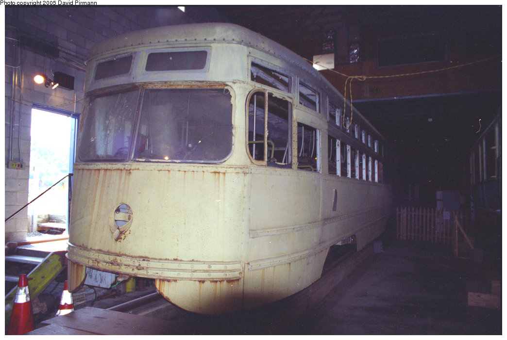 (162k, 1044x701)<br><b>Country:</b> United States<br><b>City:</b> Kingston, NY<br><b>System:</b> Trolley Museum of New York <br><b>Car:</b> Brooklyn & Queens Transit PCC (Clark Equipment, 1936)  1000 <br><b>Photo by:</b> David Pirmann<br><b>Date:</b> 8/1996<br><b>Viewed (this week/total):</b> 0 / 2245