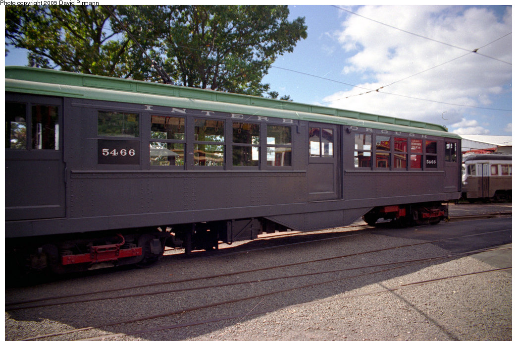 (216k, 1044x698)<br><b>Country:</b> United States<br><b>City:</b> East Haven/Branford, Ct.<br><b>System:</b> Shore Line Trolley Museum <br><b>Car:</b> Low-V (Museum Train) 5466 <br><b>Photo by:</b> David Pirmann<br><b>Date:</b> 10/5/1996<br><b>Viewed (this week/total):</b> 2 / 922