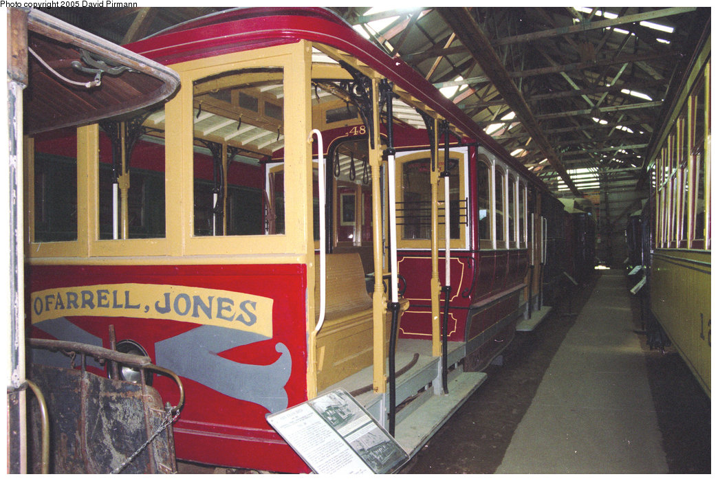 (235k, 1044x700)<br><b>Country:</b> United States<br><b>City:</b> Kennebunk, ME<br><b>System:</b> Seashore Trolley Museum <br><b>Car:</b> SF MUNI Cable Car (Double-Ended) 48 <br><b>Photo by:</b> David Pirmann<br><b>Date:</b> 5/25/1996<br><b>Viewed (this week/total):</b> 0 / 795