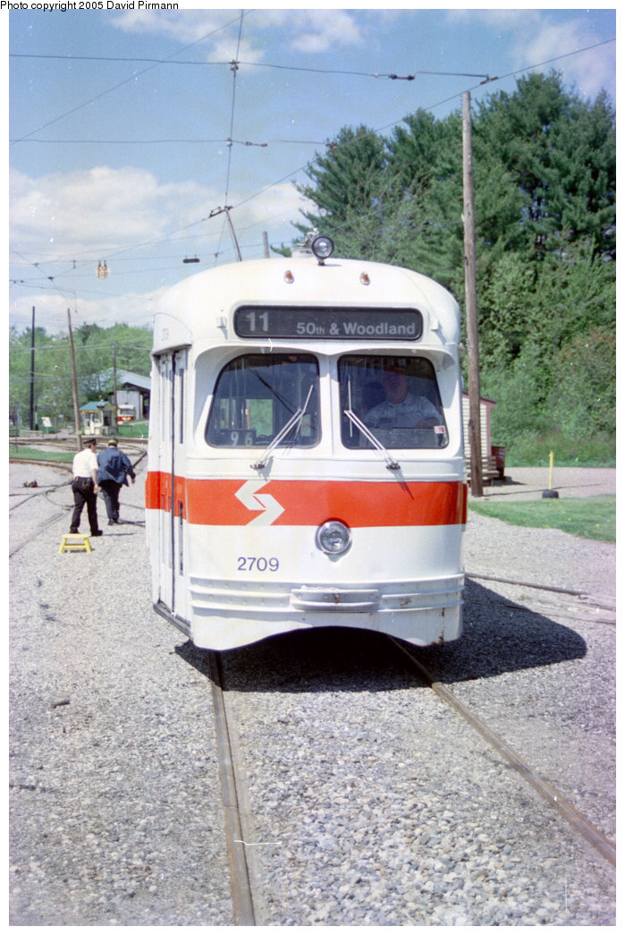 (220k, 699x1045)<br><b>Country:</b> United States<br><b>City:</b> Kennebunk, ME<br><b>System:</b> Seashore Trolley Museum <br><b>Car:</b> PTC/SEPTA Postwar All-electric PCC (St.Louis, 1947)  2709 <br><b>Photo by:</b> David Pirmann<br><b>Date:</b> 5/25/1996<br><b>Viewed (this week/total):</b> 0 / 1448