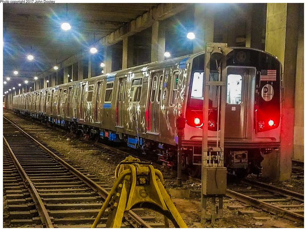 (478k, 1044x788)<br><b>Country:</b> United States<br><b>City:</b> New York<br><b>System:</b> New York City Transit<br><b>Location:</b> Pitkin Yard/Shops<br><b>Car:</b> R-179 (Bombardier, 2016-) 3010 <br><b>Photo by:</b> John Dooley<br><b>Date:</b> 4/28/2017<br><b>Notes:</b> R-179 test train at Pitkin Yard.<br><b>Viewed (this week/total):</b> 13 / 964