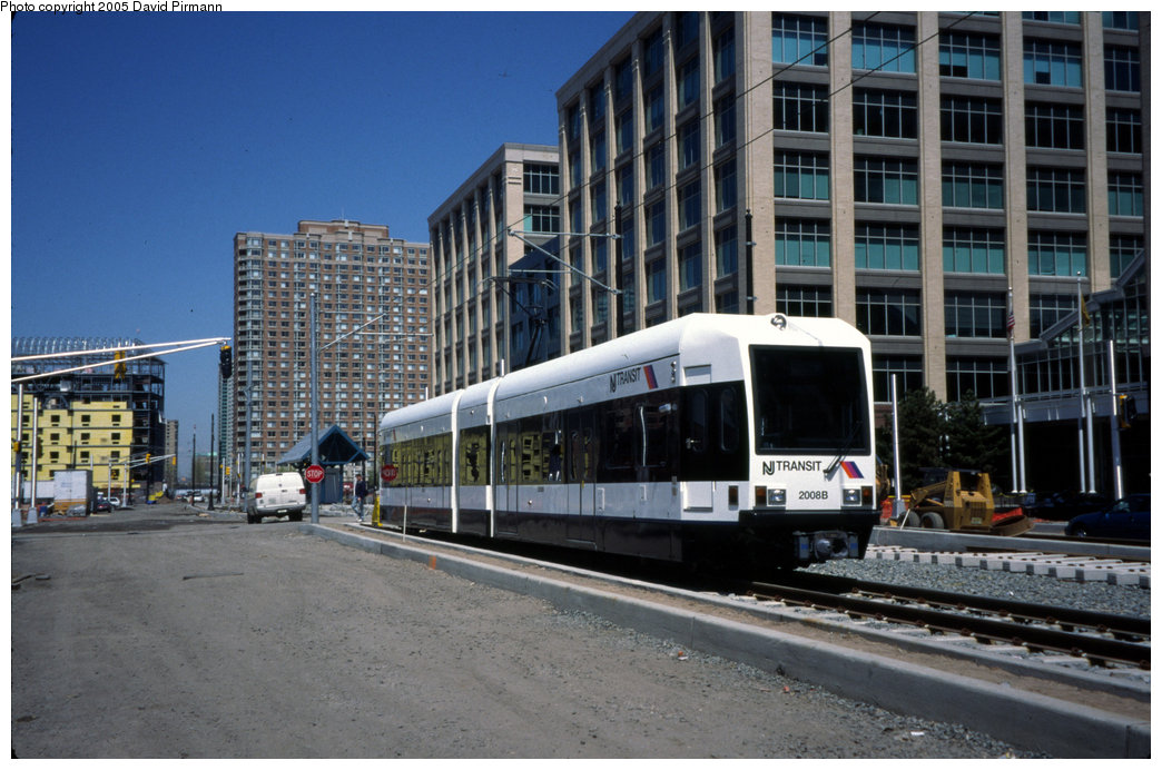(203k, 1044x692)<br><b>Country:</b> United States<br><b>City:</b> Jersey City, NJ<br><b>System:</b> Hudson Bergen Light Rail<br><b>Location:</b> Harborside <br><b>Car:</b> NJT-HBLR LRV (Kinki-Sharyo, 1998-99)  2008 <br><b>Photo by:</b> David Pirmann<br><b>Date:</b> 4/29/2000<br><b>Viewed (this week/total):</b> 3 / 1318