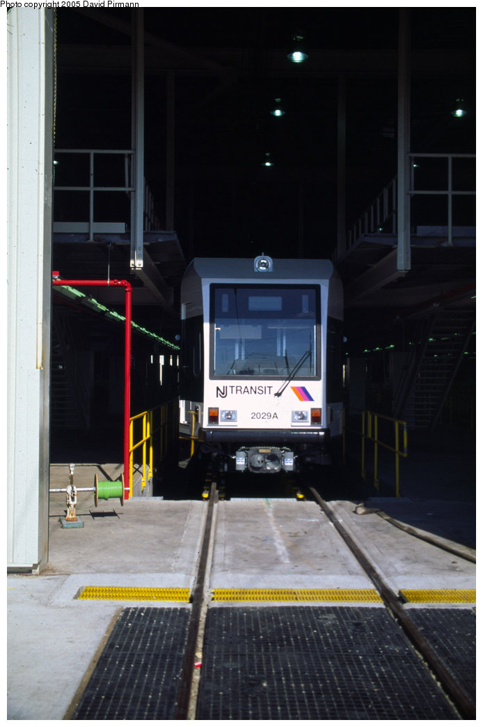 (138k, 694x1043)<br><b>Country:</b> United States<br><b>City:</b> Jersey City, NJ<br><b>System:</b> Hudson Bergen Light Rail<br><b>Location:</b> HBLR Shops/Yard <br><b>Car:</b> NJT-HBLR LRV (Kinki-Sharyo, 1998-99)  2029 <br><b>Photo by:</b> David Pirmann<br><b>Date:</b> 10/2/1999<br><b>Viewed (this week/total):</b> 1 / 1459