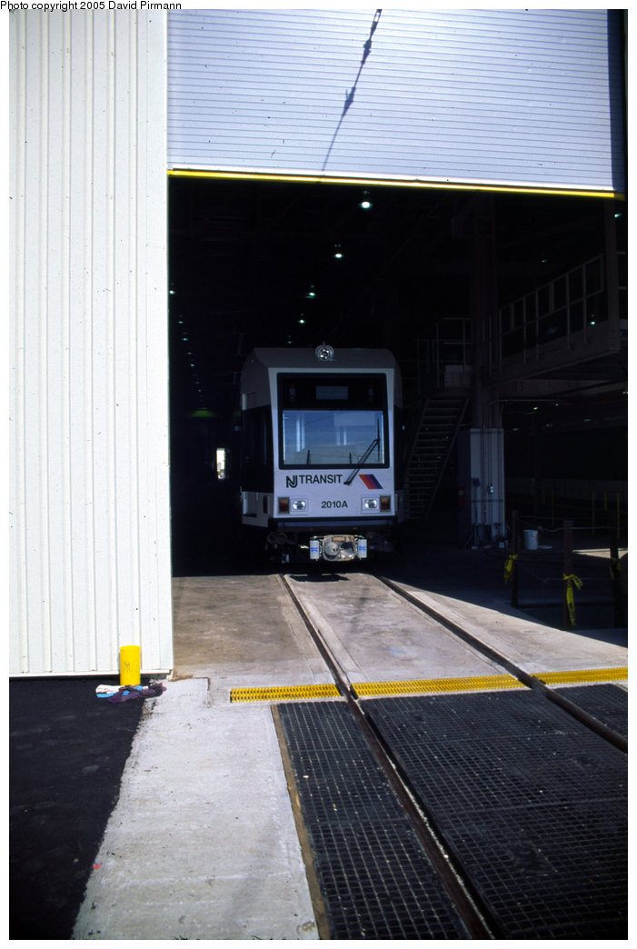 (160k, 701x1044)<br><b>Country:</b> United States<br><b>City:</b> Jersey City, NJ<br><b>System:</b> Hudson Bergen Light Rail<br><b>Location:</b> HBLR Shops/Yard <br><b>Car:</b> NJT-HBLR LRV (Kinki-Sharyo, 1998-99)  2010 <br><b>Photo by:</b> David Pirmann<br><b>Date:</b> 10/2/1999<br><b>Viewed (this week/total):</b> 0 / 1332