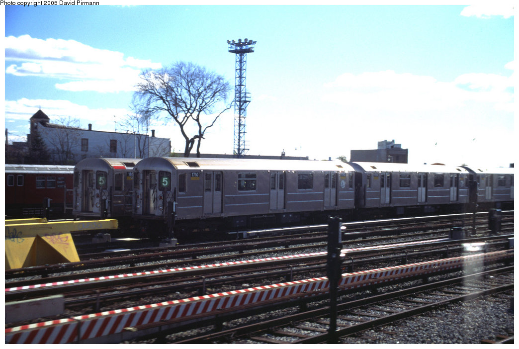 (182k, 1044x702)<br><b>Country:</b> United States<br><b>City:</b> New York<br><b>System:</b> New York City Transit<br><b>Location:</b> Unionport Yard<br><b>Car:</b> R-62A (Bombardier, 1984-1987)  1710 <br><b>Photo by:</b> David Pirmann<br><b>Date:</b> 12/5/1999<br><b>Viewed (this week/total):</b> 1 / 3070