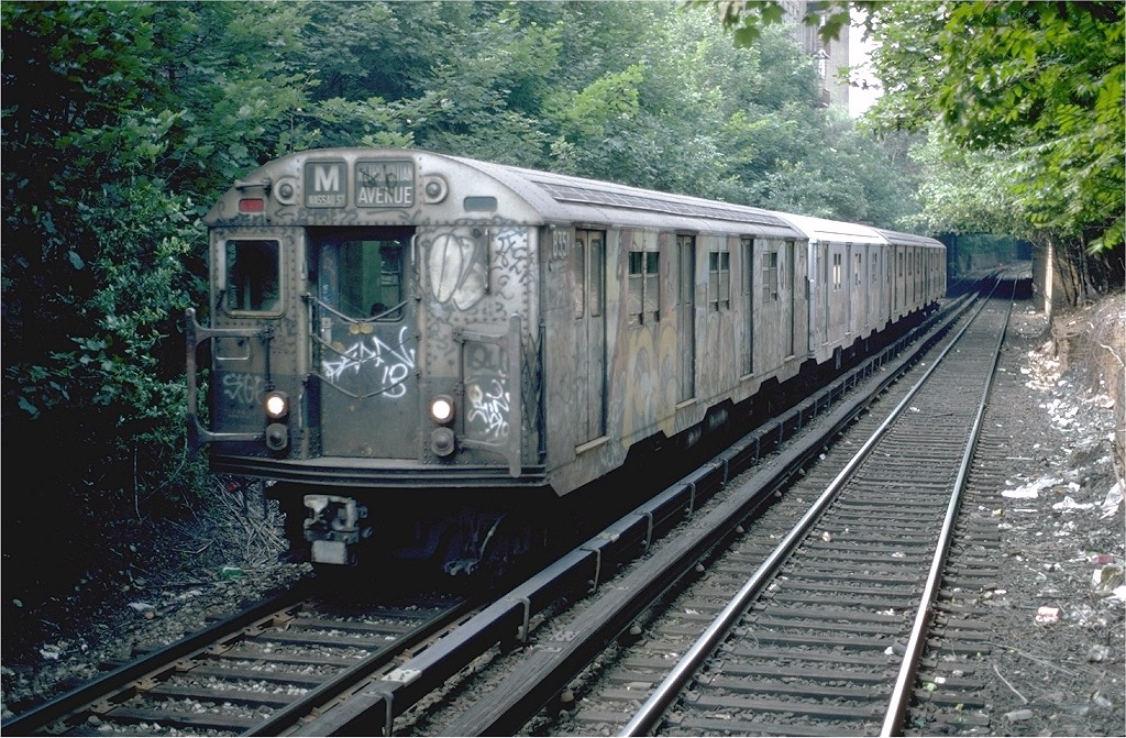 (277k, 1024x671)<br><b>Country:</b> United States<br><b>City:</b> New York<br><b>System:</b> New York City Transit<br><b>Line:</b> BMT Franklin<br><b>Location:</b> Botanic Garden <br><b>Route:</b> Franklin Shuttle<br><b>Car:</b> R-30 (St. Louis, 1961) 8351 <br><b>Photo by:</b> Steve Zabel<br><b>Collection of:</b> Joe Testagrose<br><b>Date:</b> 7/4/1982<br><b>Viewed (this week/total):</b> 3 / 3260