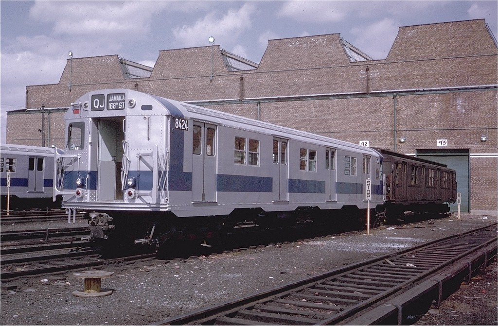 (250k, 1024x671)<br><b>Country:</b> United States<br><b>City:</b> New York<br><b>System:</b> New York City Transit<br><b>Location:</b> Coney Island Yard<br><b>Car:</b> R-30 (St. Louis, 1961) 8424 <br><b>Photo by:</b> Steve Zabel<br><b>Collection of:</b> Joe Testagrose<br><b>Date:</b> 3/30/1971<br><b>Viewed (this week/total):</b> 0 / 1396