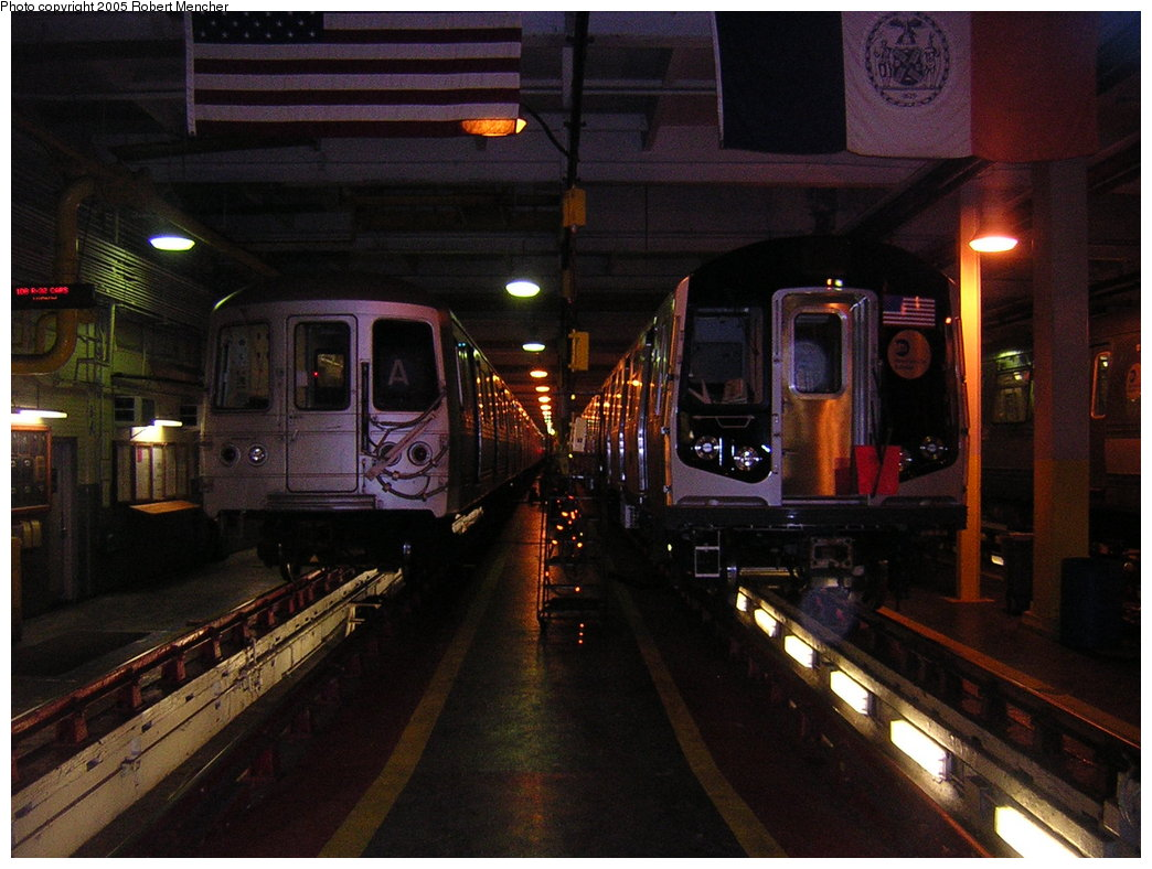 (199k, 1044x788)<br><b>Country:</b> United States<br><b>City:</b> New York<br><b>System:</b> New York City Transit<br><b>Location:</b> Pitkin Yard/Shops<br><b>Car:</b> R-160B (Kawasaki, 2005-2008)  8717 <br><b>Photo by:</b> Robert Mencher<br><b>Date:</b> 12/8/2005<br><b>Viewed (this week/total):</b> 2 / 5158
