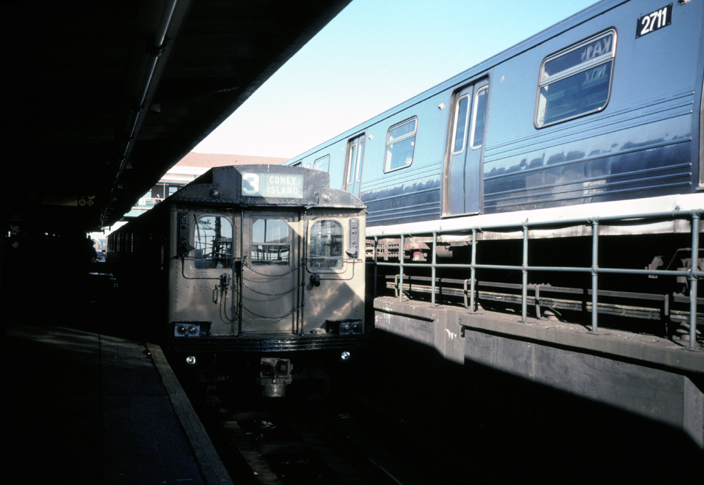 (187k, 1024x706)<br><b>Country:</b> United States<br><b>City:</b> New York<br><b>System:</b> New York City Transit<br><b>Location:</b> Coney Island/Stillwell Avenue<br><b>Route:</b> Fan Trip<br><b>Car:</b> BMT D-Type Triplex  <br><b>Photo by:</b> Chris Leverett<br><b>Date:</b> 12/8/1996<br><b>Viewed (this week/total):</b> 2 / 2409