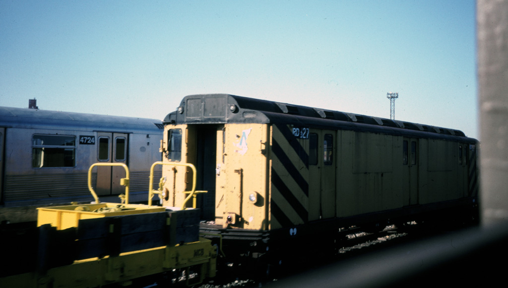 (138k, 1024x581)<br><b>Country:</b> United States<br><b>City:</b> New York<br><b>System:</b> New York City Transit<br><b>Location:</b> Coney Island Yard<br><b>Car:</b> R-71 Rider Car (R-17/R-21/R-22 Rebuilds)  RD327 (ex-5875)<br><b>Photo by:</b> Chris Leverett<br><b>Date:</b> 12/8/1996<br><b>Viewed (this week/total):</b> 0 / 1155