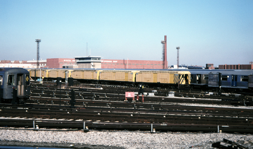 (243k, 1024x606)<br><b>Country:</b> United States<br><b>City:</b> New York<br><b>System:</b> New York City Transit<br><b>Location:</b> Coney Island Yard<br><b>Car:</b> R-123 Continuous Welded Rail Handler (R17/R21/R22 Rebuilds) CCR08-CCR05 <br><b>Photo by:</b> Chris Leverett<br><b>Date:</b> 12/8/1996<br><b>Viewed (this week/total):</b> 3 / 1785